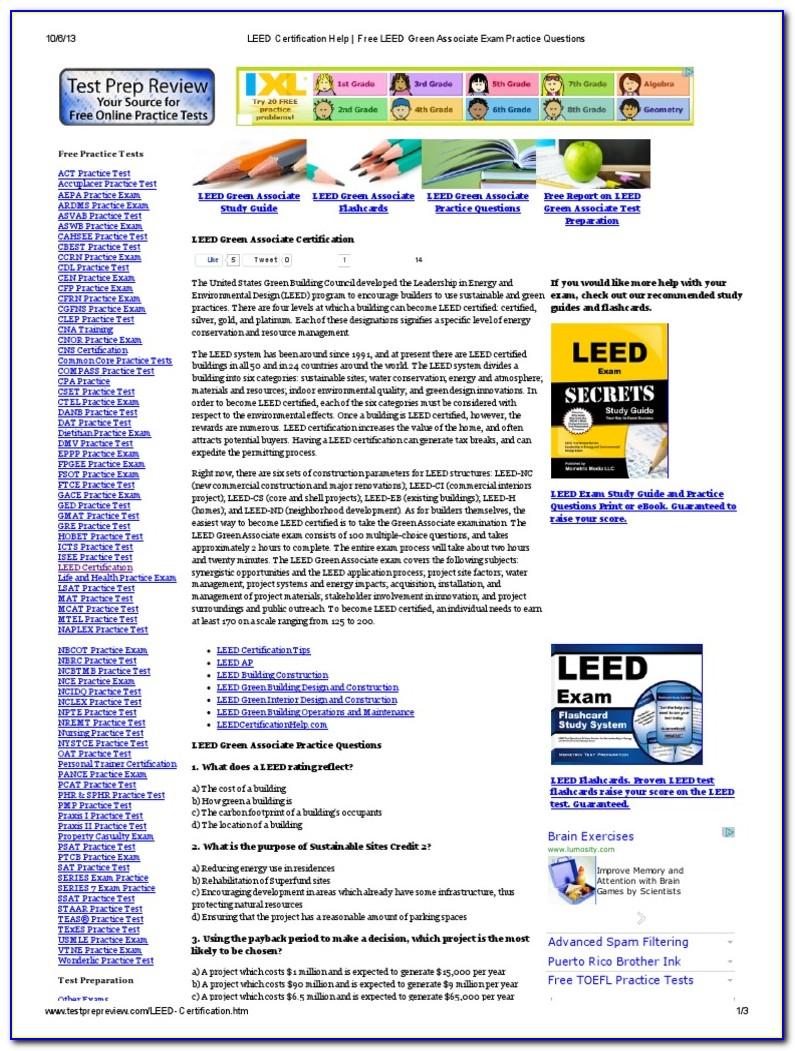 Leed Certification Exam Registration