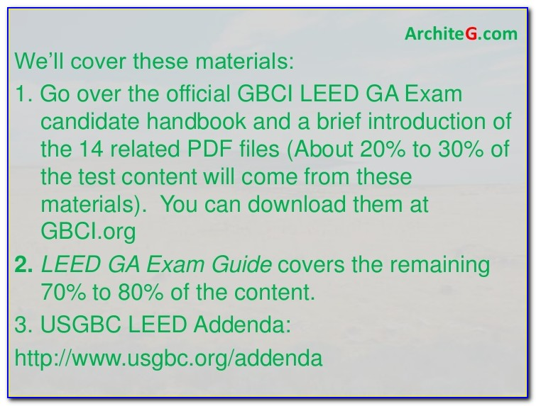 Leed Certification Examples