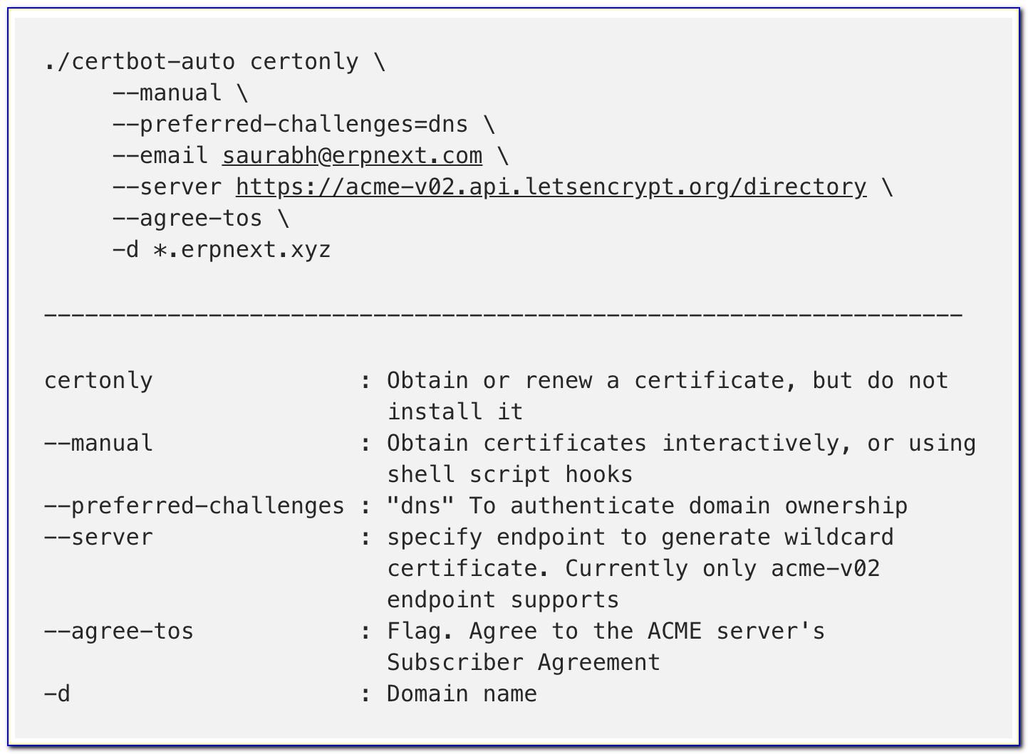 Letsencrypt Wildcard Certificate Not Working