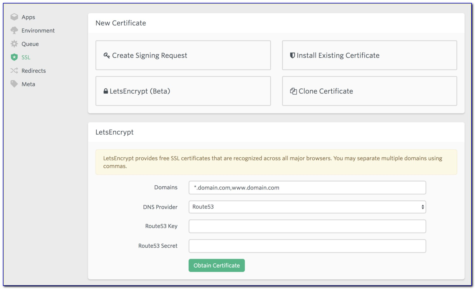 Letsencrypt Wildcard Certificate Windows