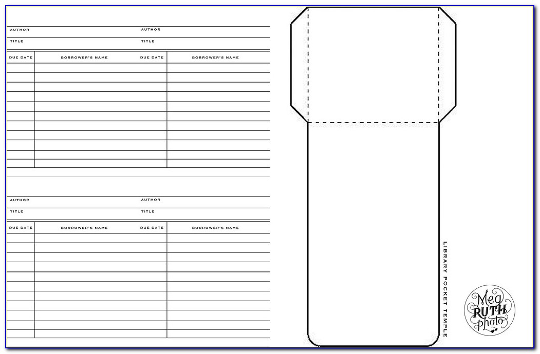Library Card Pocket Template Pdf