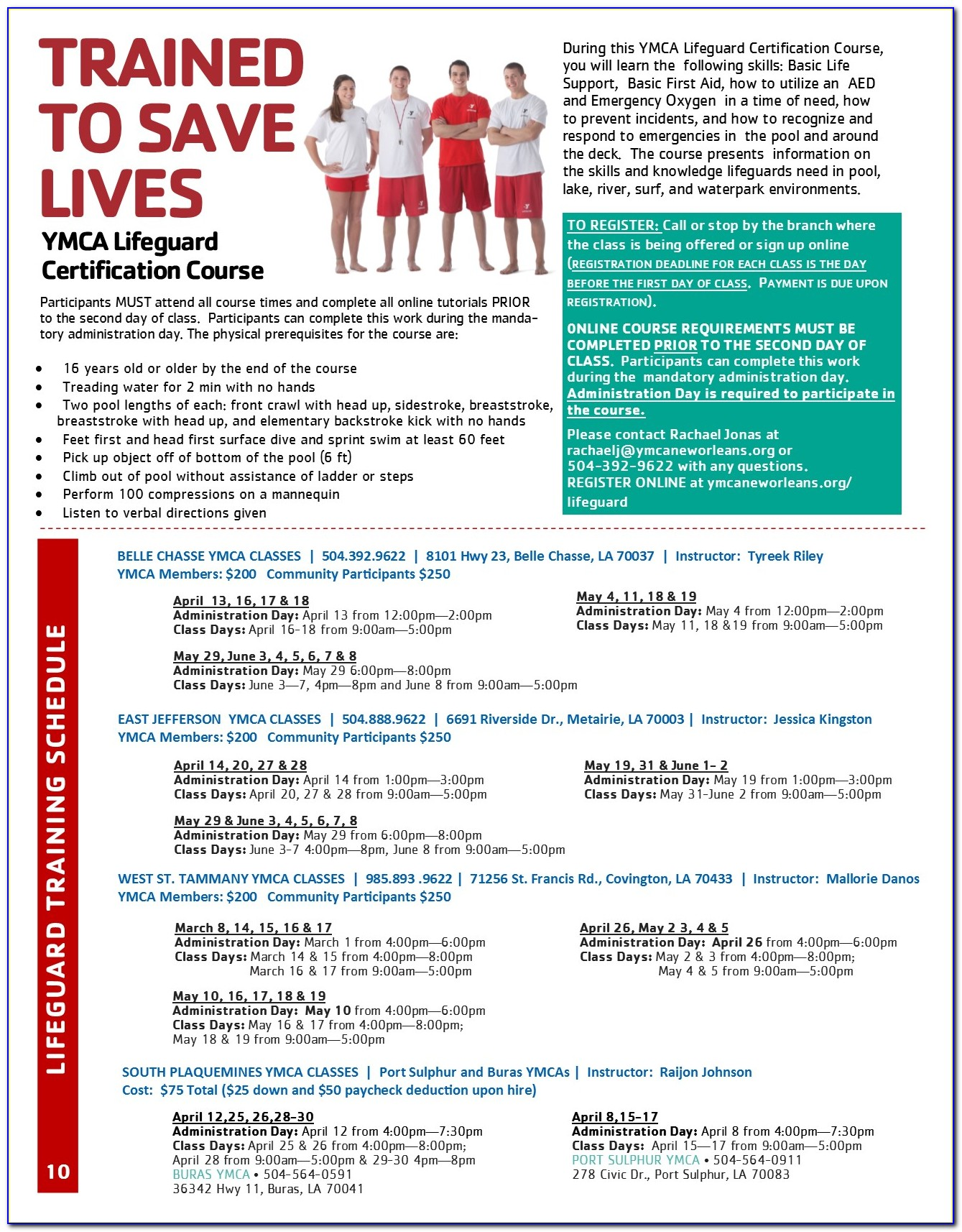 Lifeguard Certification Classes Maryland