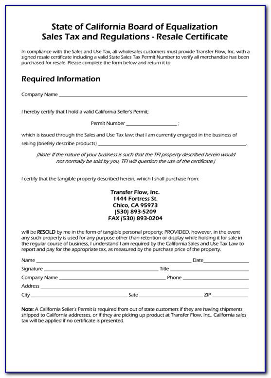 Louisiana Resale Certificate R 1064 Blank