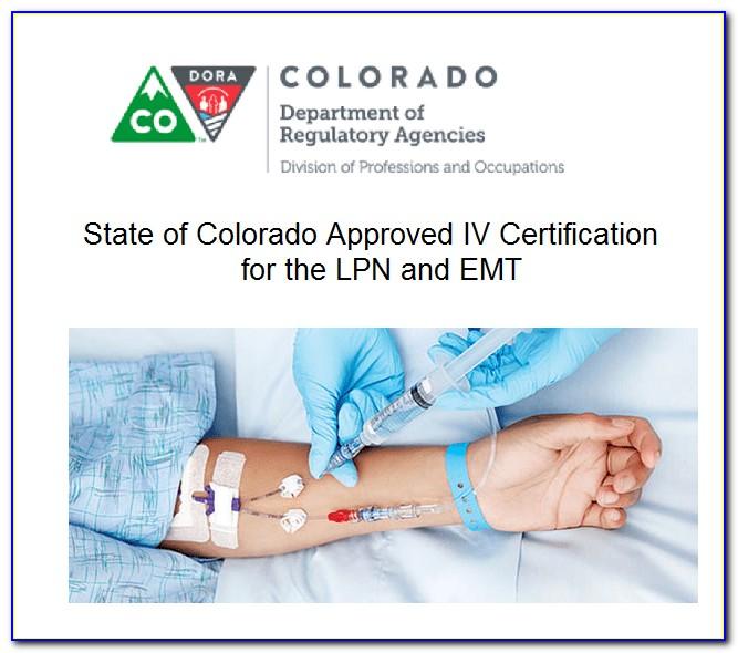 Lpn Iv Certification Denver