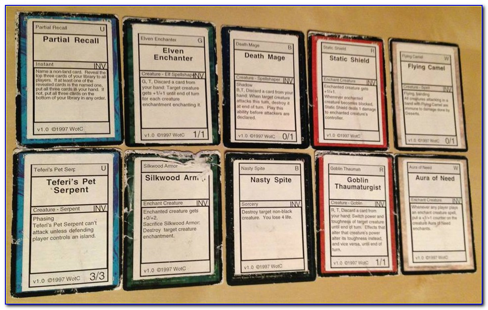 Magic Invitational Cards