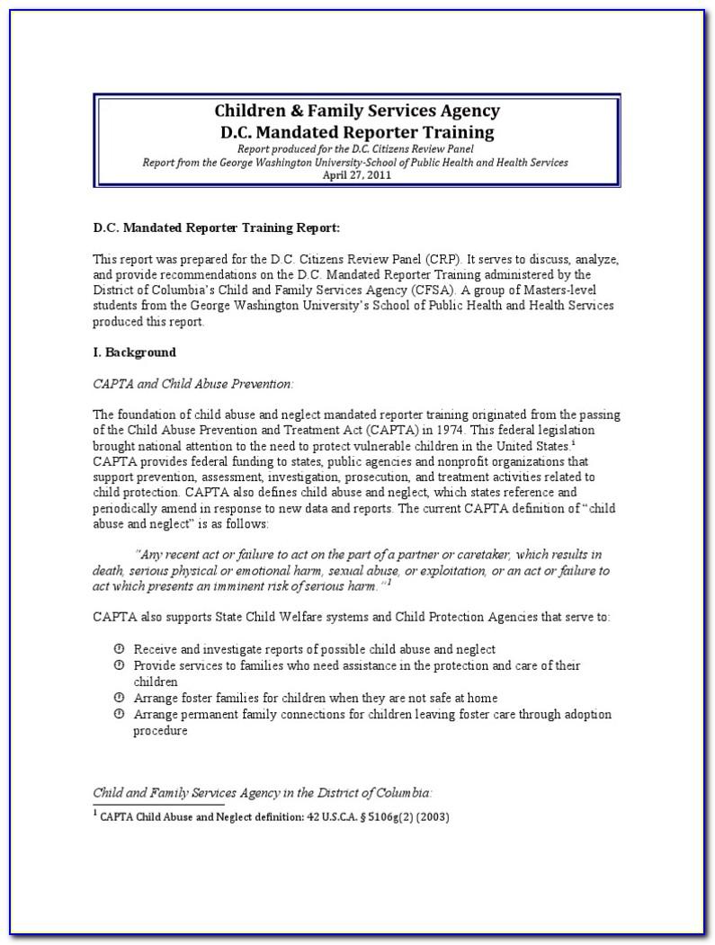 Mandated Reporter Certificate Ca