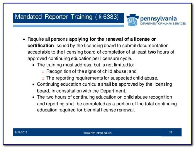 Mandated Reporter Certificate Illinois