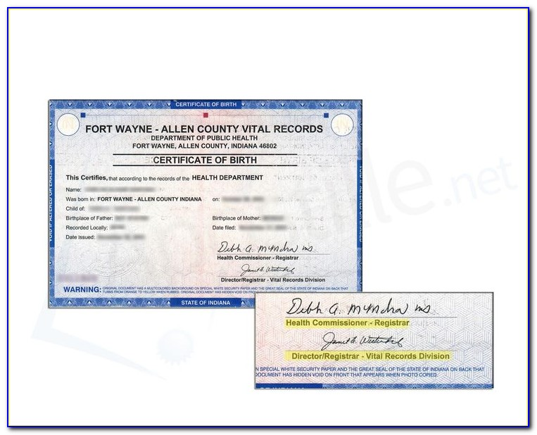 Marion County Indiana Birth Certificate Office