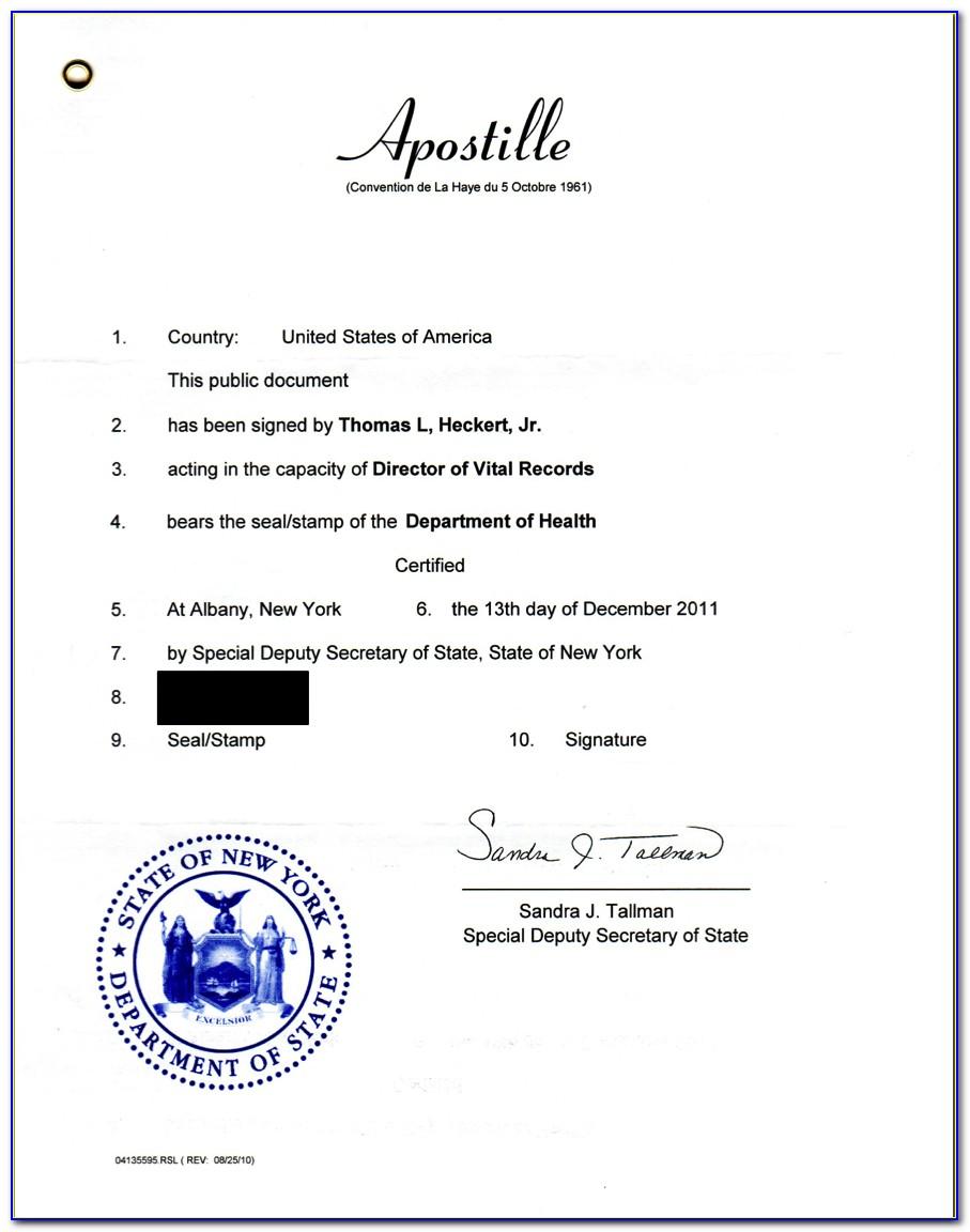Marriage Certificate Apostille California