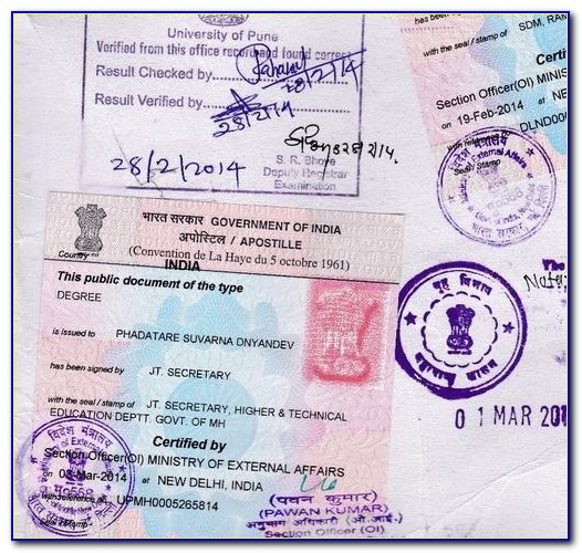 Marriage Certificate Apostille In India