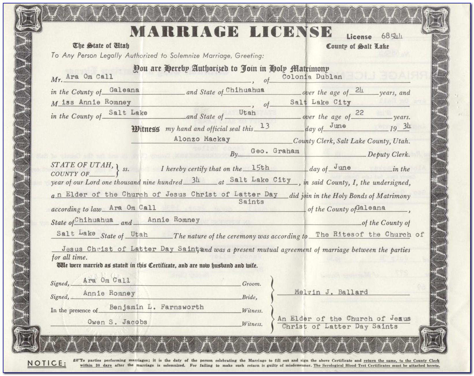 Marriage Certificate Lookup Florida