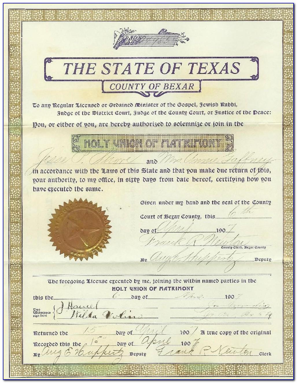 Marriage Certificate Lookup New York