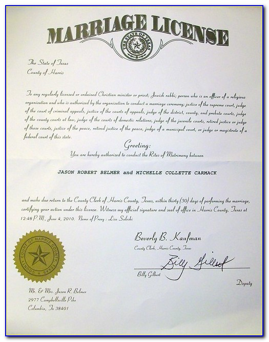 Marriage Certificate Lookup Virginia