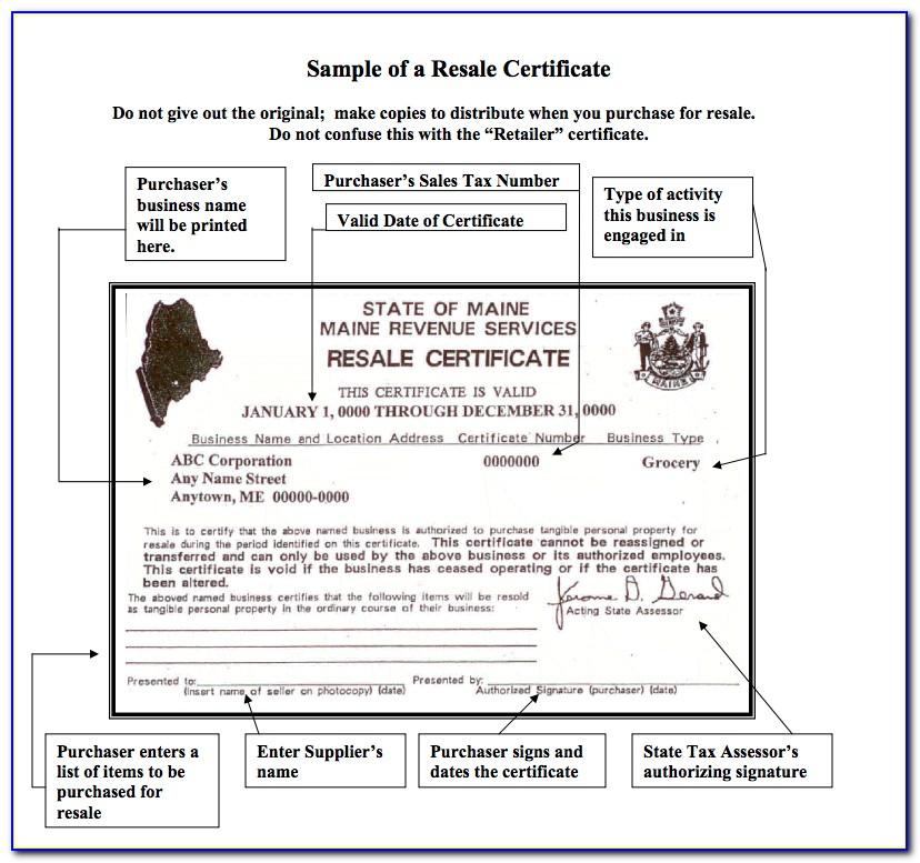 Massachusetts Resale Certificate Instructions