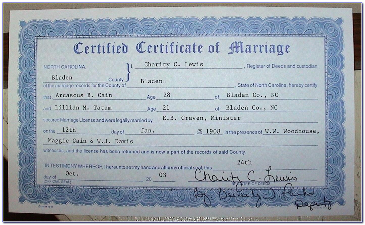 Mecklenburg County Birth Certificate Address