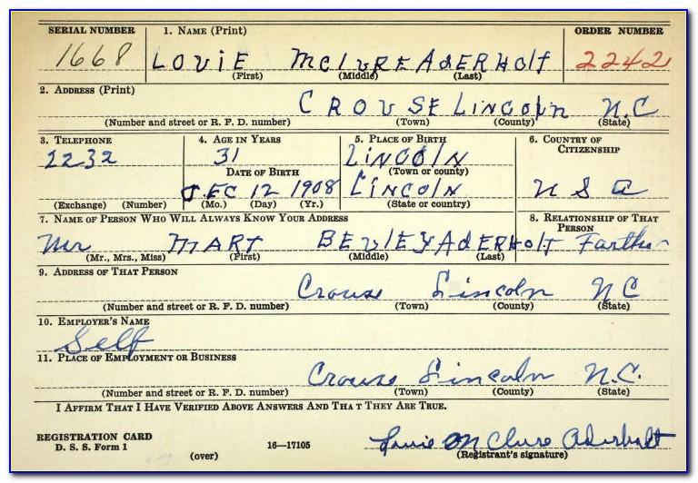 Mecklenburg County Order Birth Certificate