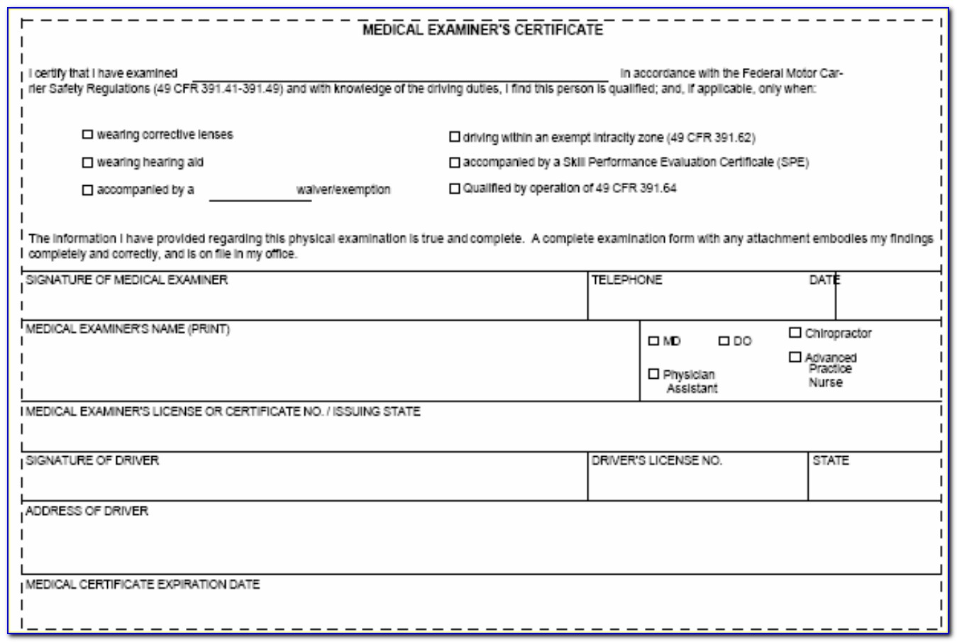 Medical Examiners Certificate Pdf