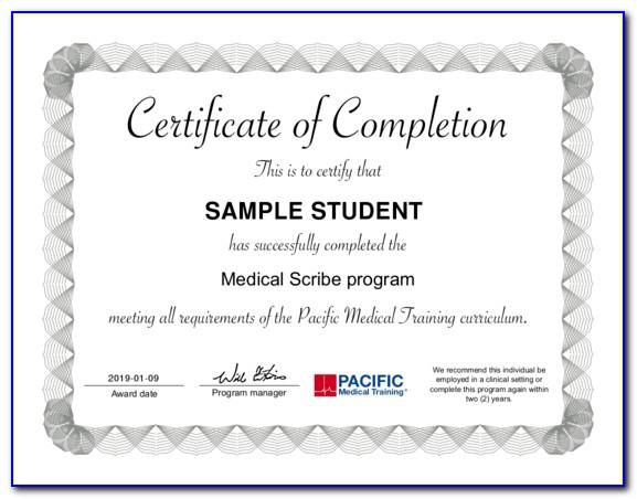 Medical Scribe Certification Online