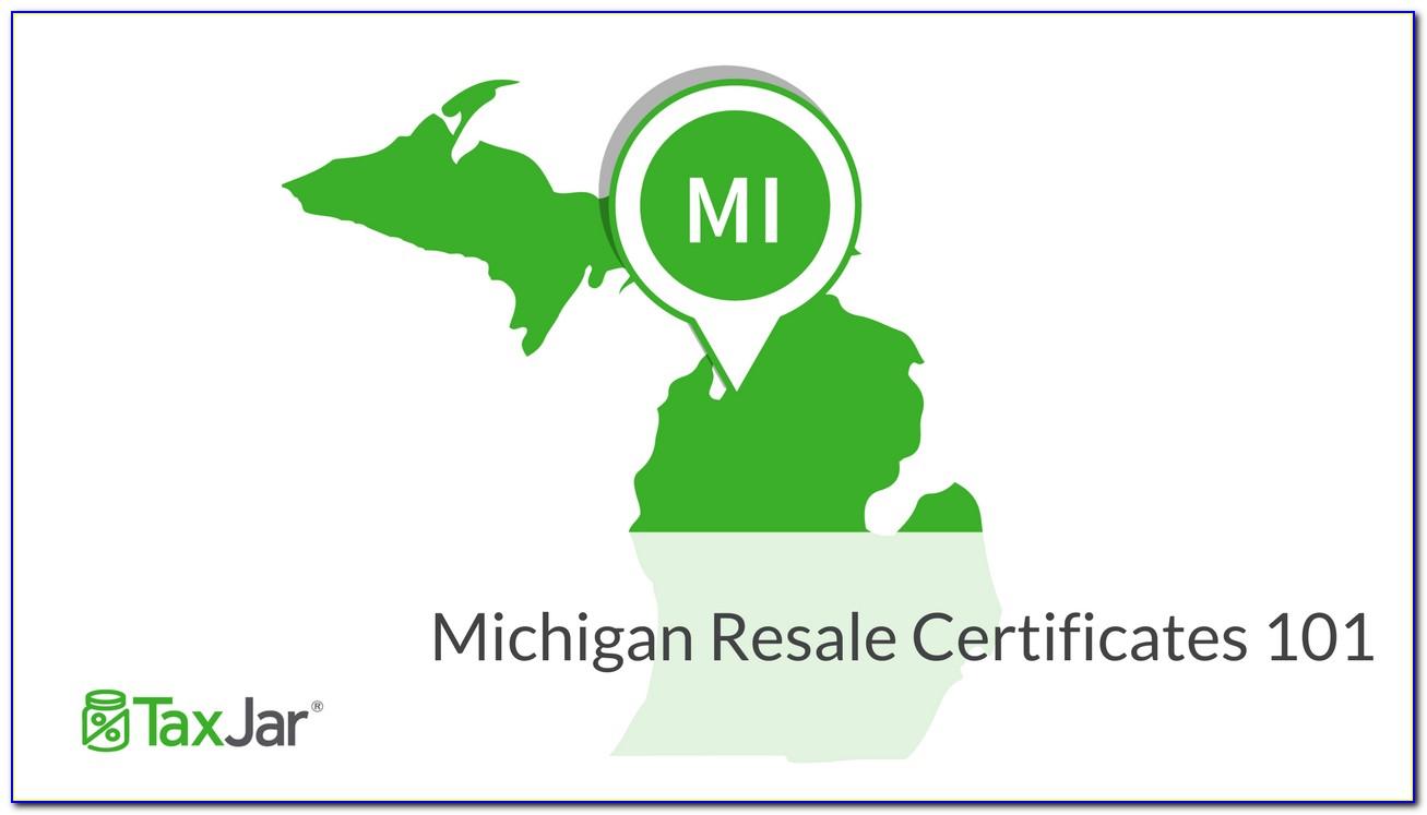 Michigan Resale Certificate Lookup