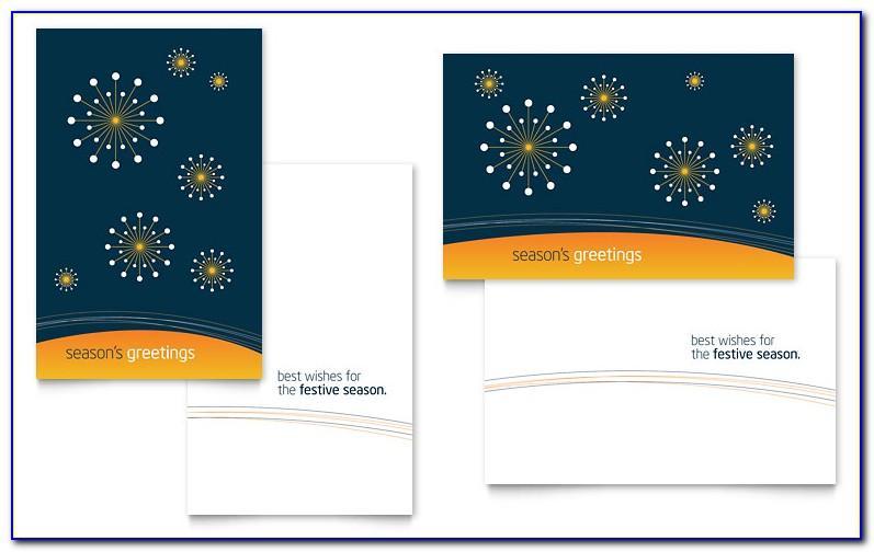 Microsoft Word Card Template Quarter Fold