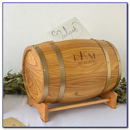 Mini Wine Barrel Wedding Card Holder