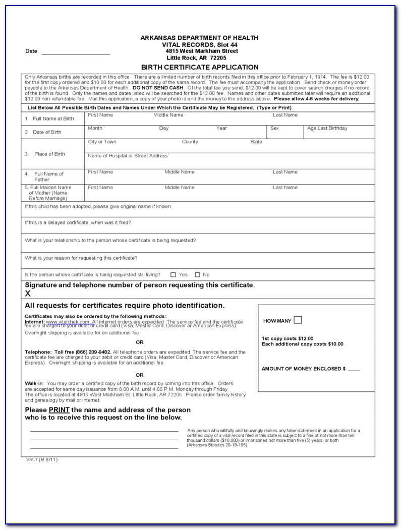 Mississippi Birth Certificate App
