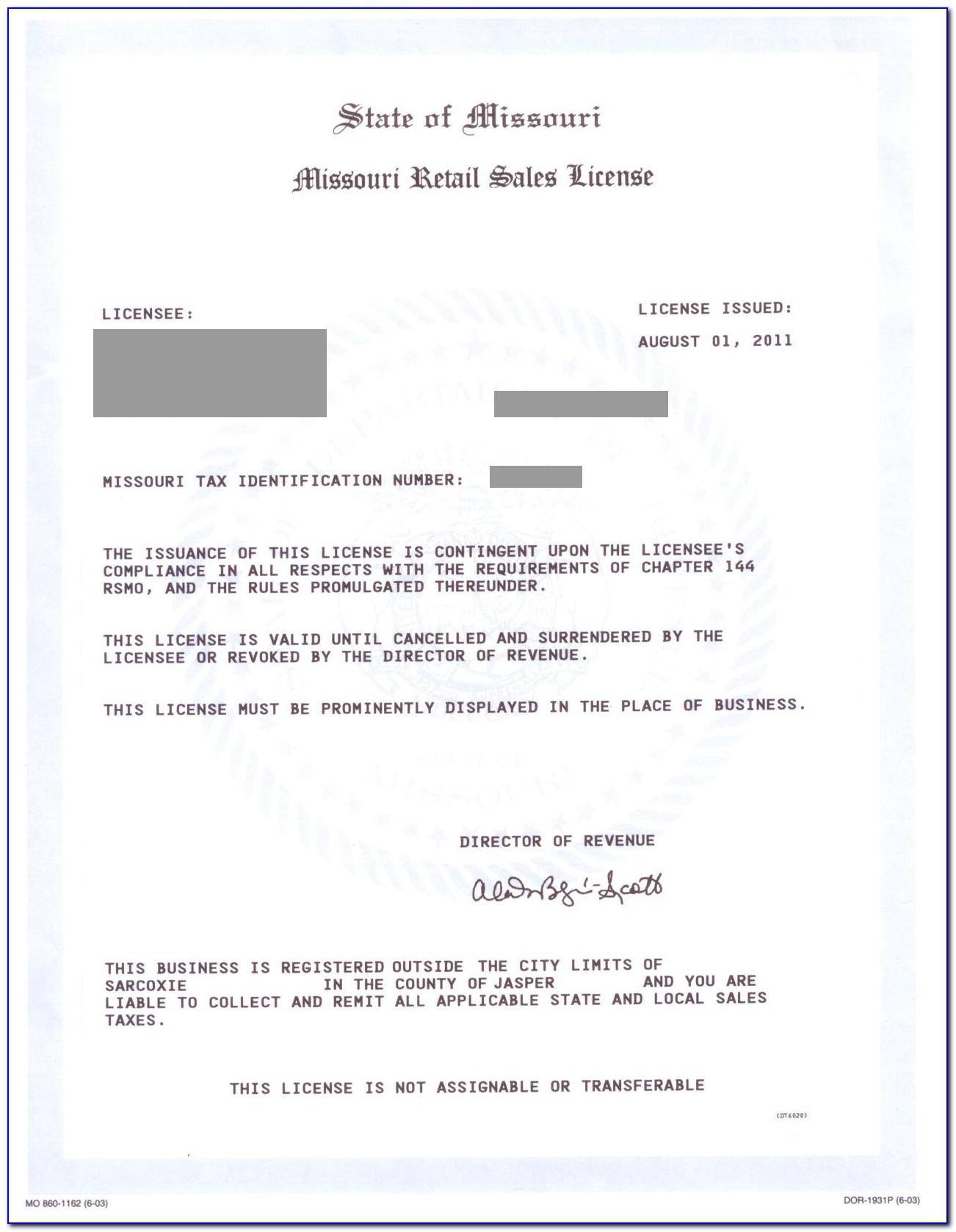 Mississippi Resale Certificate Online