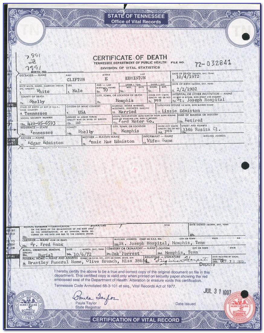 Missouri Death Certificates Online Free