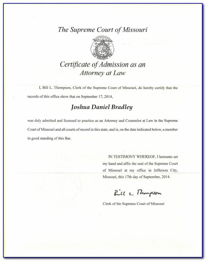 Missouri Llc Certificate Of Good Standing