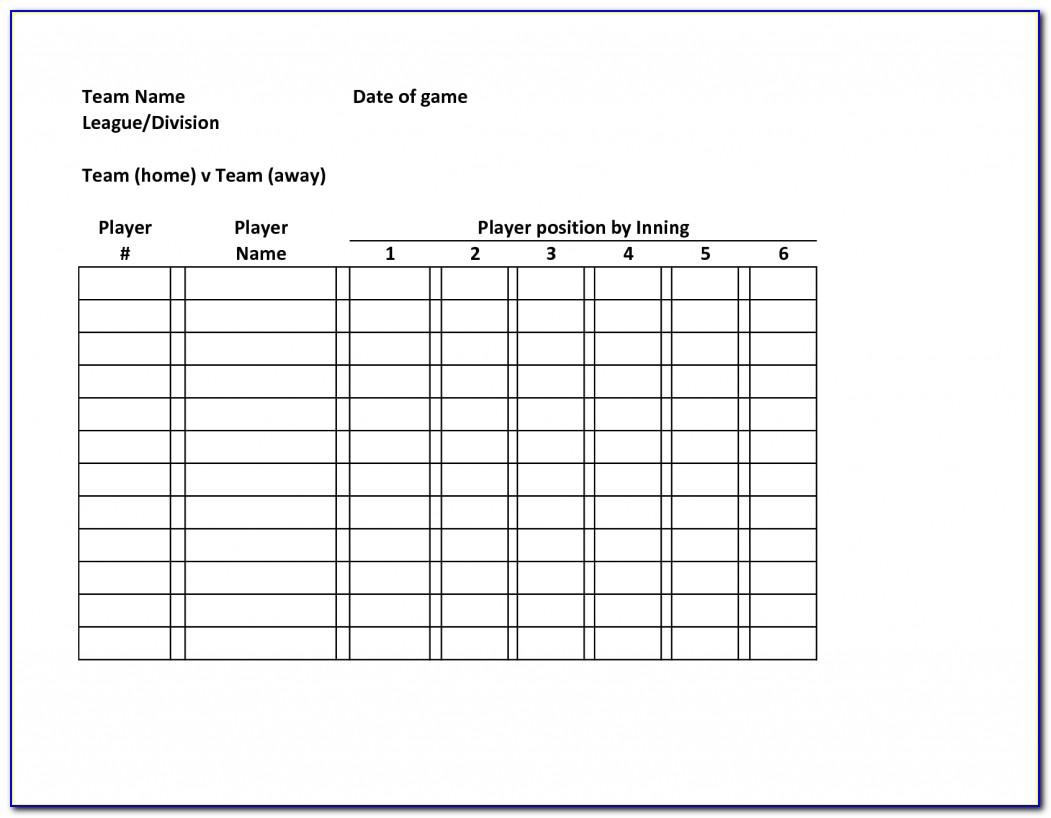Mlb Lineup Card Template
