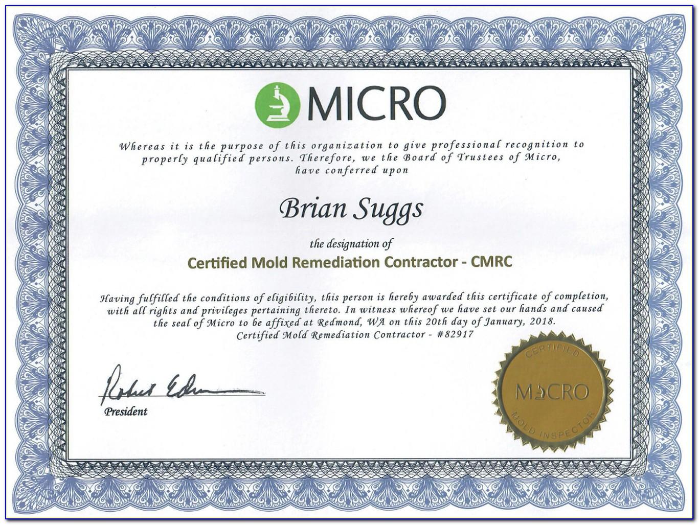 Mold Remediation Certification Georgia
