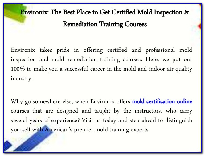 Mold Remediation Certification Texas