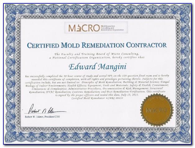 Mold Remediation Certification Virginia