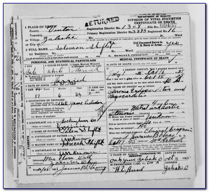 Montgomery County Dayton Ohio Birth Certificates
