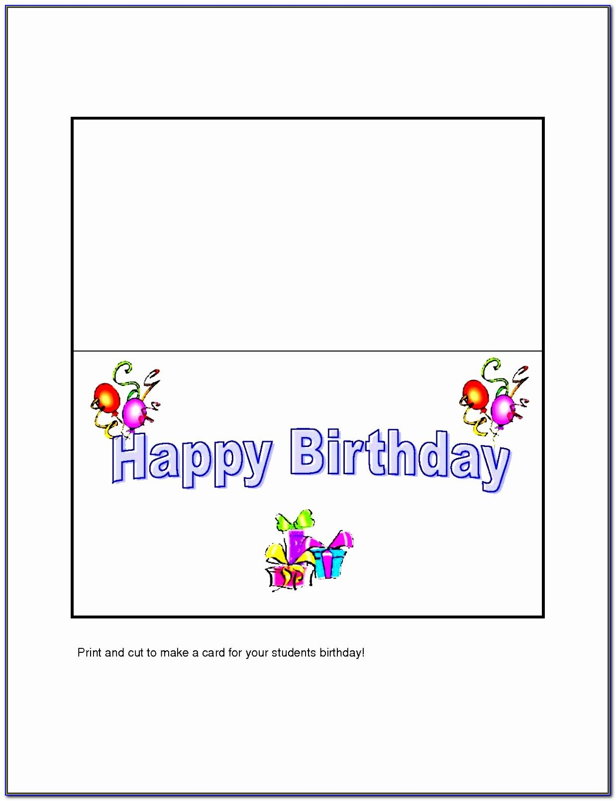 Ms Word Card Template