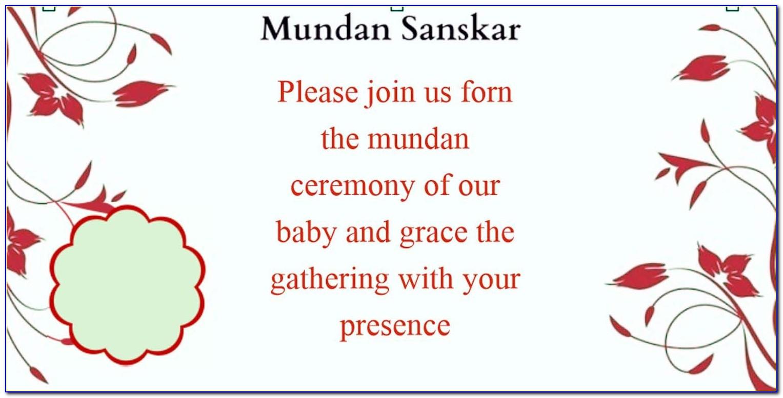 Mundan Ceremony Invitation Card Wording In Gujarati