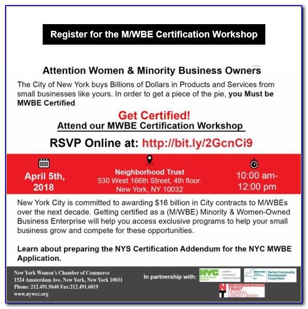 Mwbe Certification Nyc Login