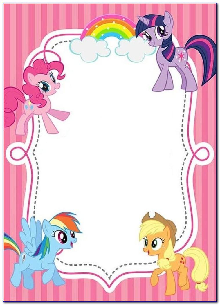 My Little Pony Birthday Invitation Card