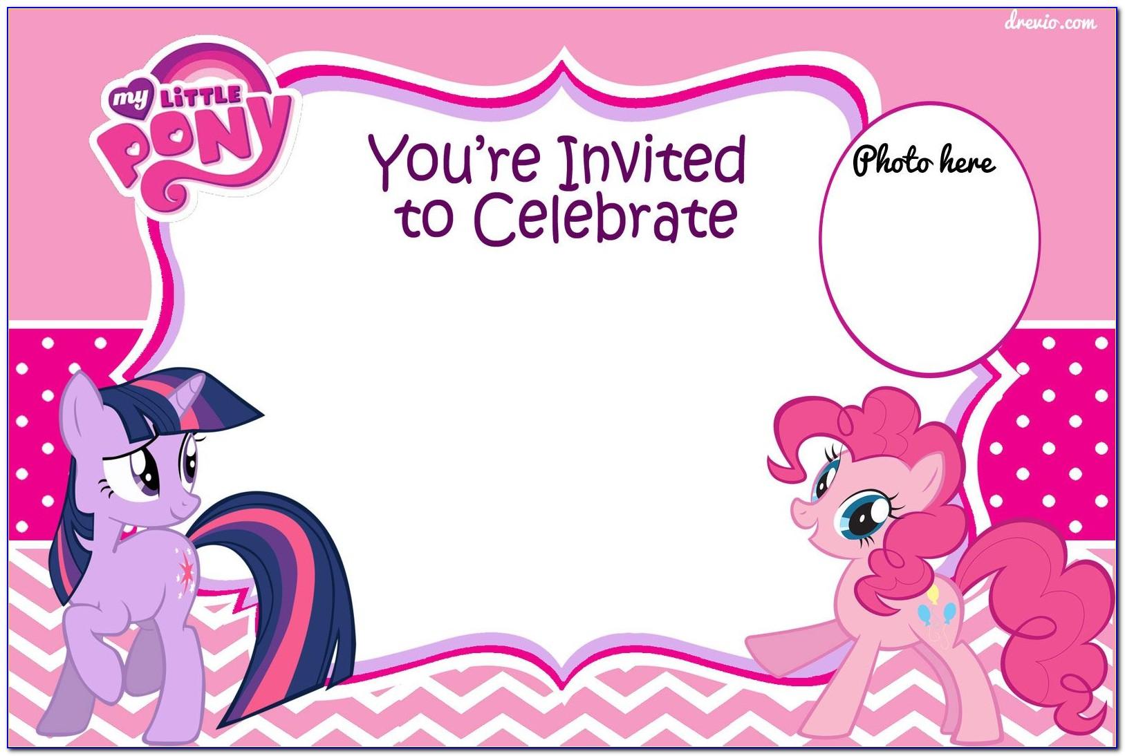 My Little Pony Birthday Invitation Cards