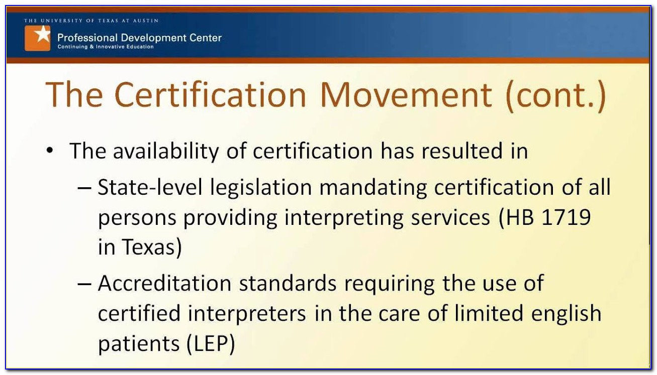 National Board Of Certification For Healthcare Interpreters
