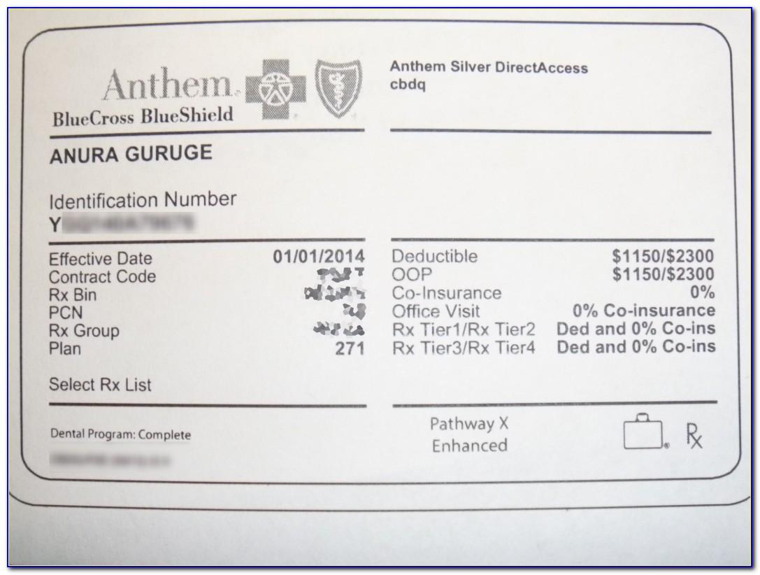 Nationwide Insurance Card Template