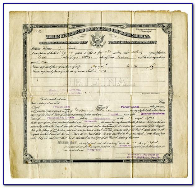 Naturalization Certificate Replacement Fee