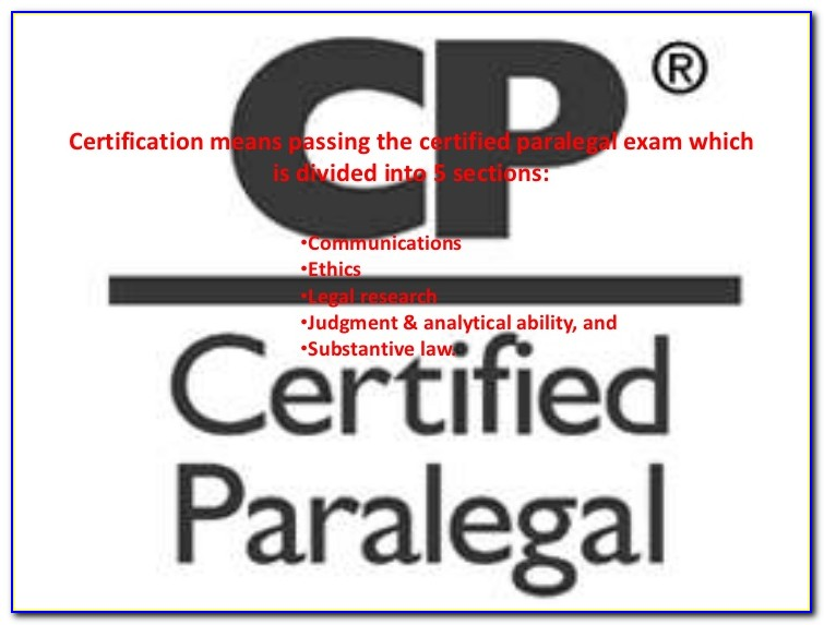 Nc Paralegal Certification Exam Results