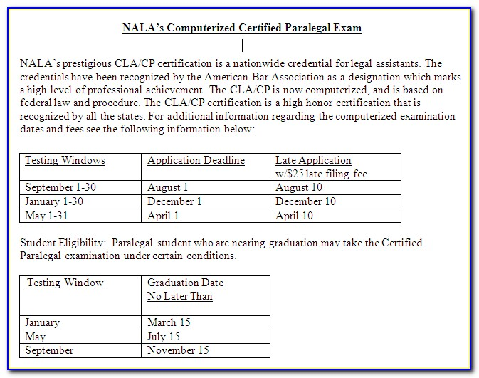Nc Paralegal Certification Renewal