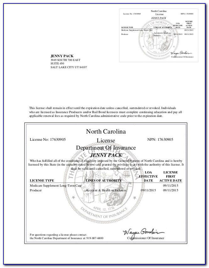 Nc Resale Certificate Example