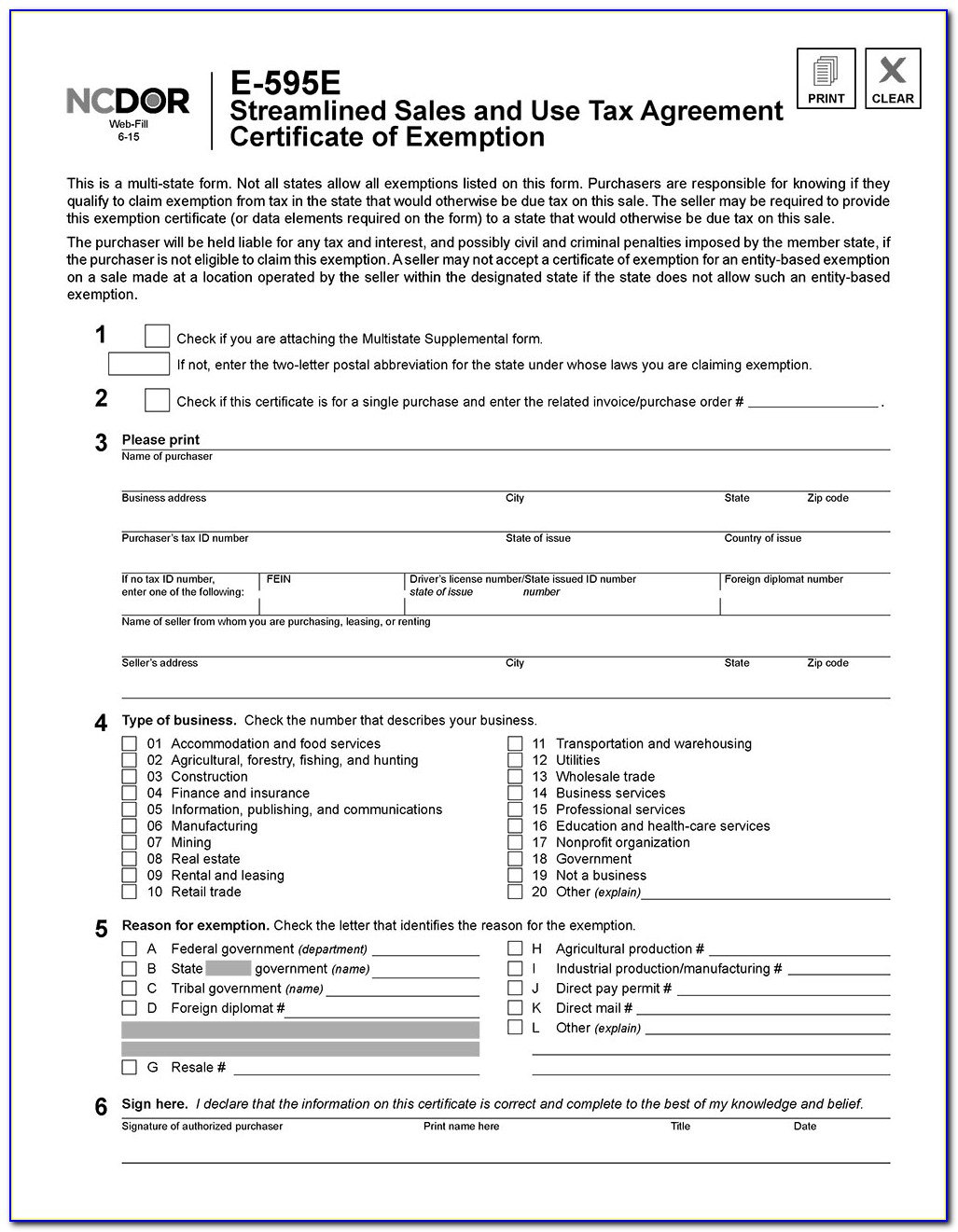 Nc Resale Certificate Pdf