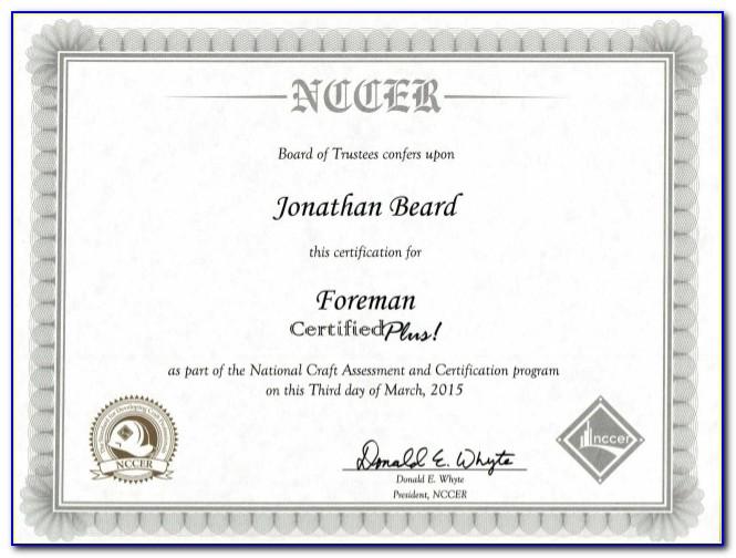 Nccer Rigging Certification Online