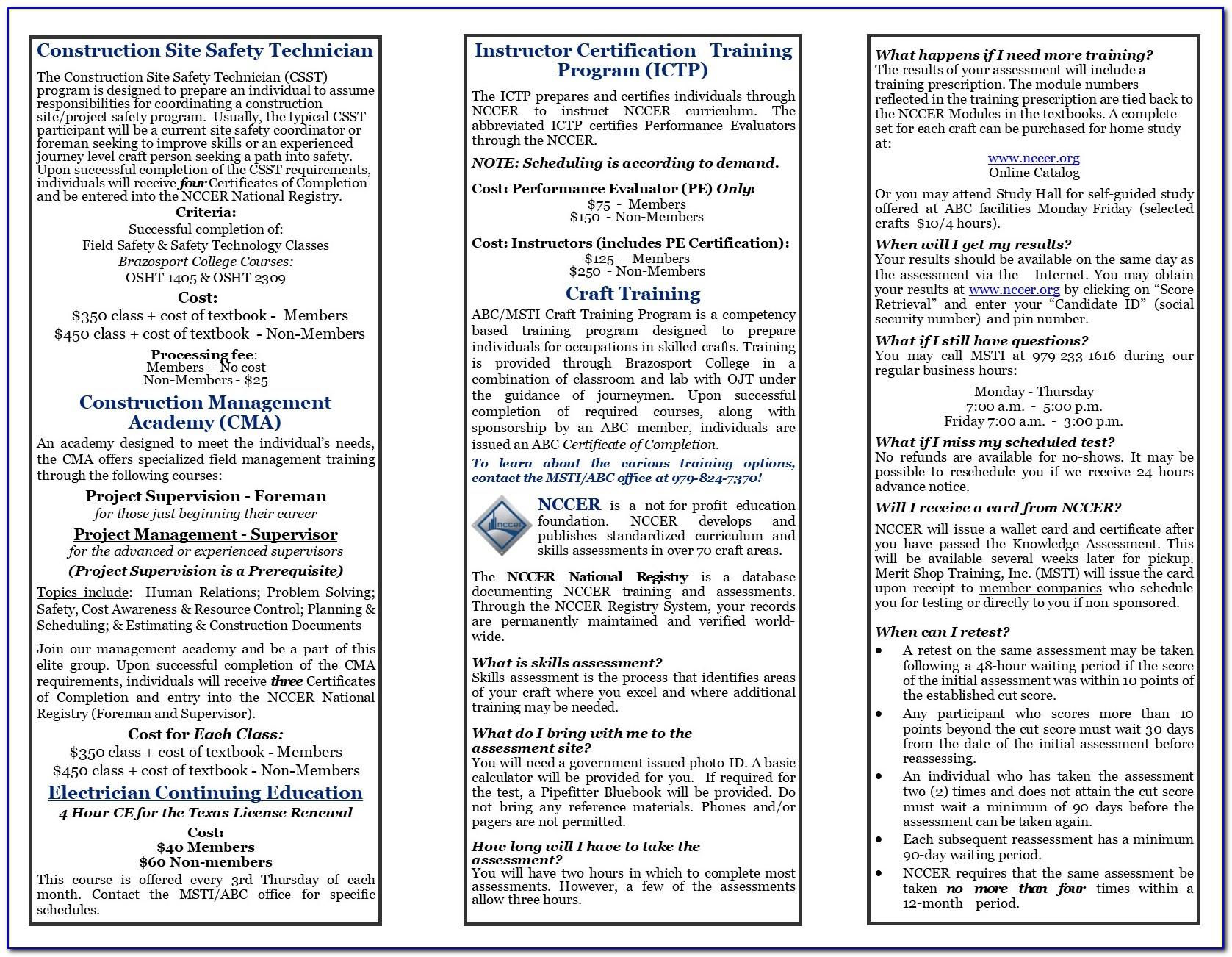 Nccer Safety Certification Online