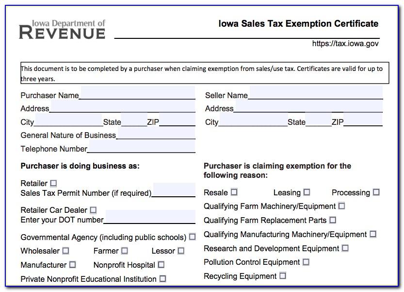 Nevada Resale Certificate Example