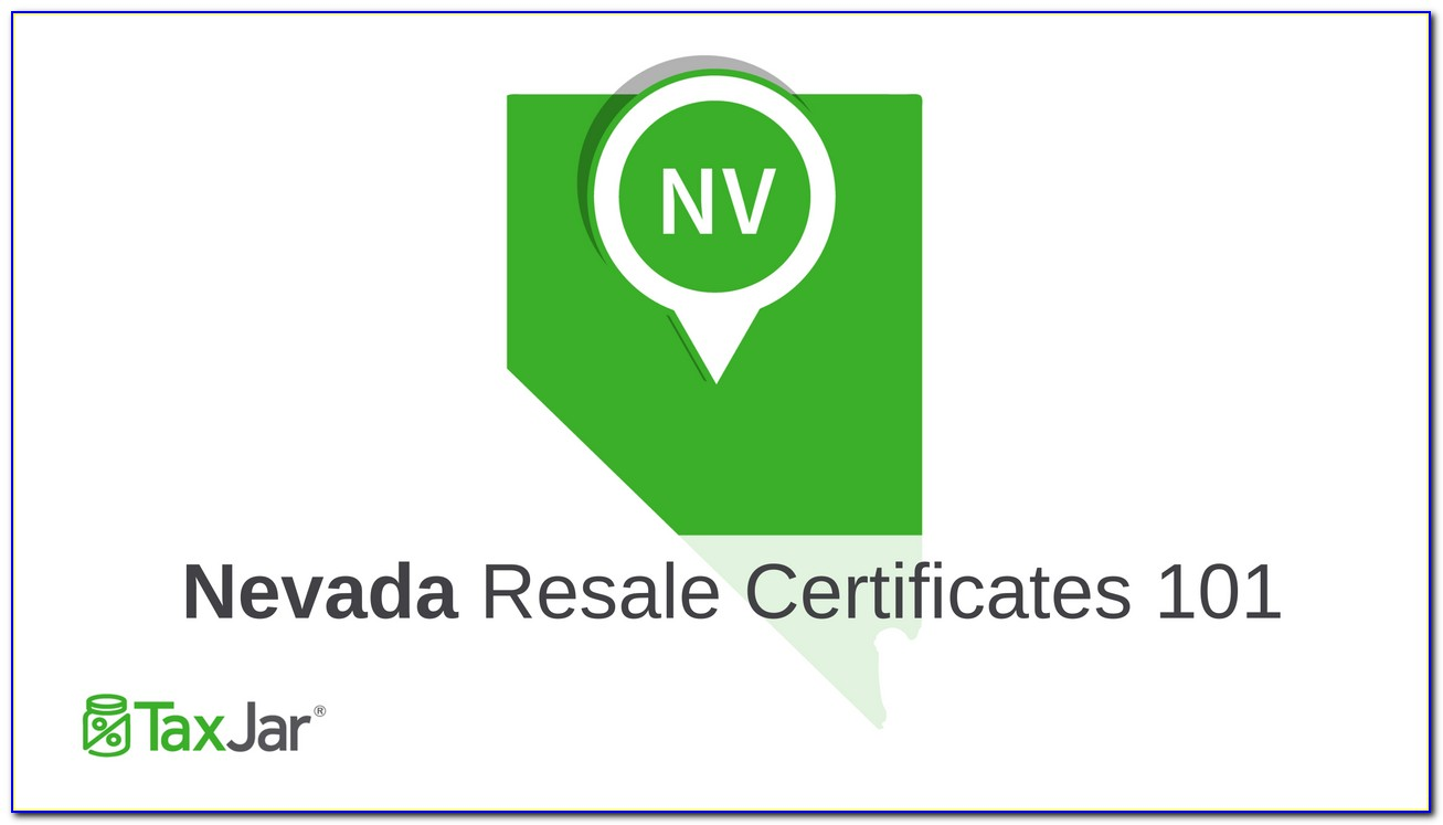 Nevada Resale Certificate Verification